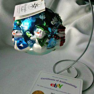 Radko Blown Glass eBay LTD Ed Christmas Ornament